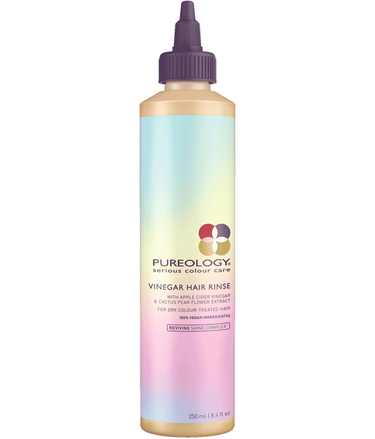 Pureology Vinegar Hair Rinse made with apple cider vinegar for hair