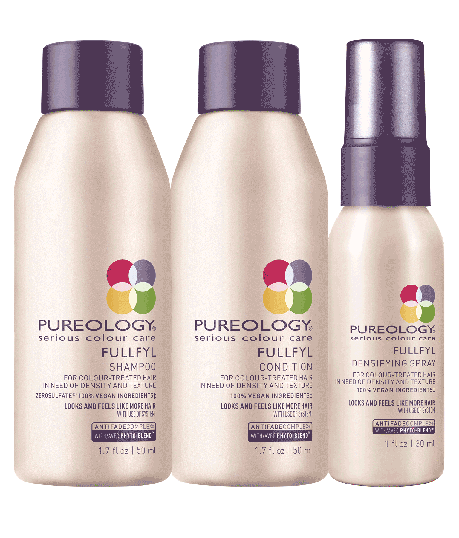 Travel Size Volumizing Hair Product Set For Colored Hair Pureology