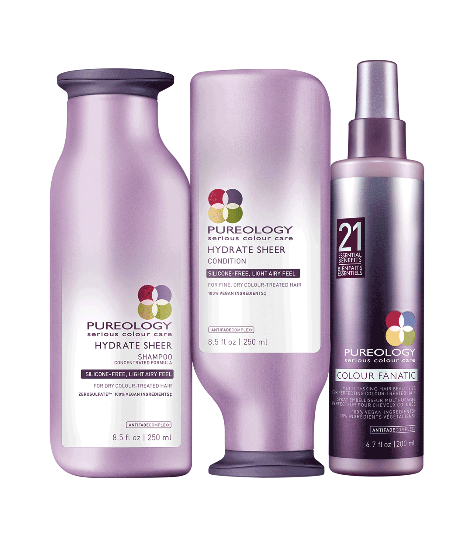 Lightweight Moisturizing Hair Care Product Set For Fine Dry Color