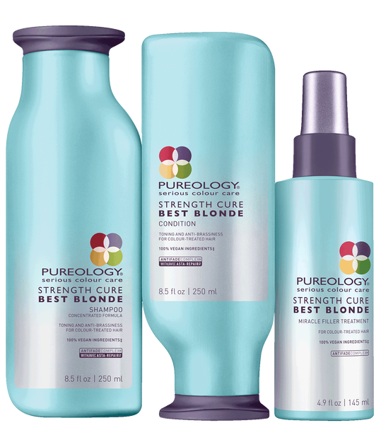 Strength Cure Best Blonde 3 Step System For Blonde Hair Pureology