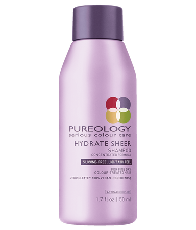 Pureology Travel Size Hydrate Sheer Shampoo for Fine and Dry, Color-Treated Hair
