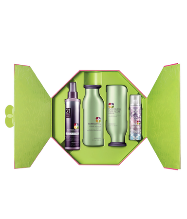 Pureology Volumizing Hair Kit for Fine Hair - Clean Volume Holiday Gift Set 2018