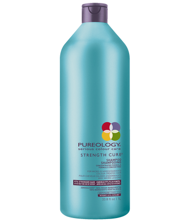 Strength Cure Shampoo Liter Size for Damaged, Color-Treated Hair