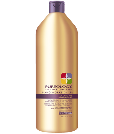 Nano Works® Gold Conditioner Liter Size for Aging, Color-treated Hair