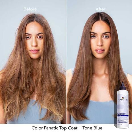Color Fanatic Top Coat + Tone Blue