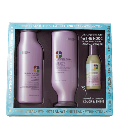 Pureology Hydrate Product Kit for Dry, Color-treated Hair with NOCC