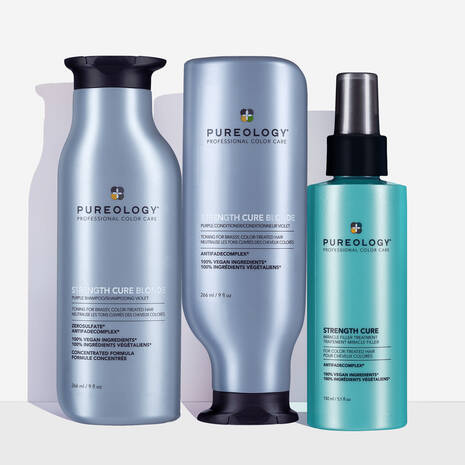 Strength Cure Blonde Toning & Brightening Hair Care Set
