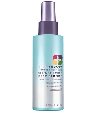 Pureology Strength Cure Best Blonde Miracle Filler hair repair treatment for blonde, highlighted and lifted color-treated hair
