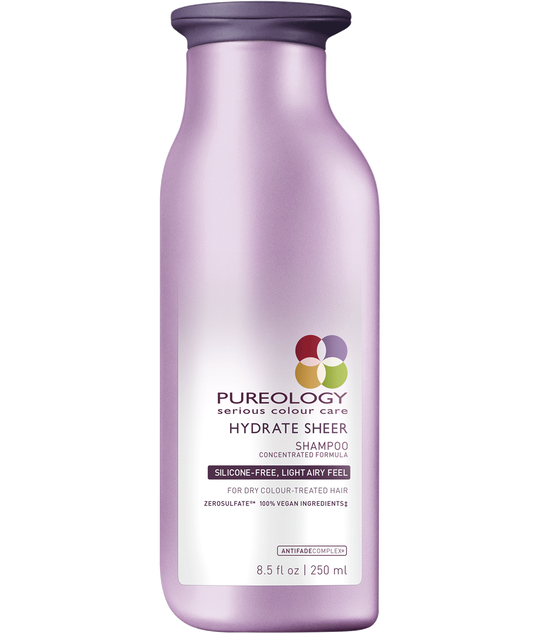 Pureology Hydrate Sheer Moisturizing Shampoo for Fine and Dry, Color-treated Hair