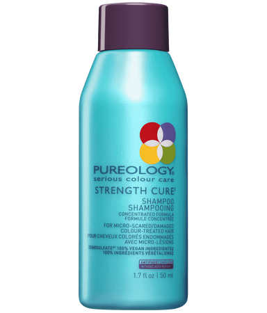 Pureology Travel Size, Sulfate-Free Strength Cure Shampoo for Damaged, Color-treated hair