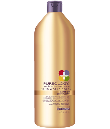 Nano Works® Gold Shampoo Liter for Aging, Color-treated Hair
