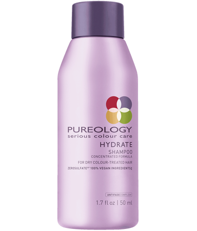 Pureology Travel Size Hydrate Sulfate-Free Shampoo for Dry, Color-treated Hair