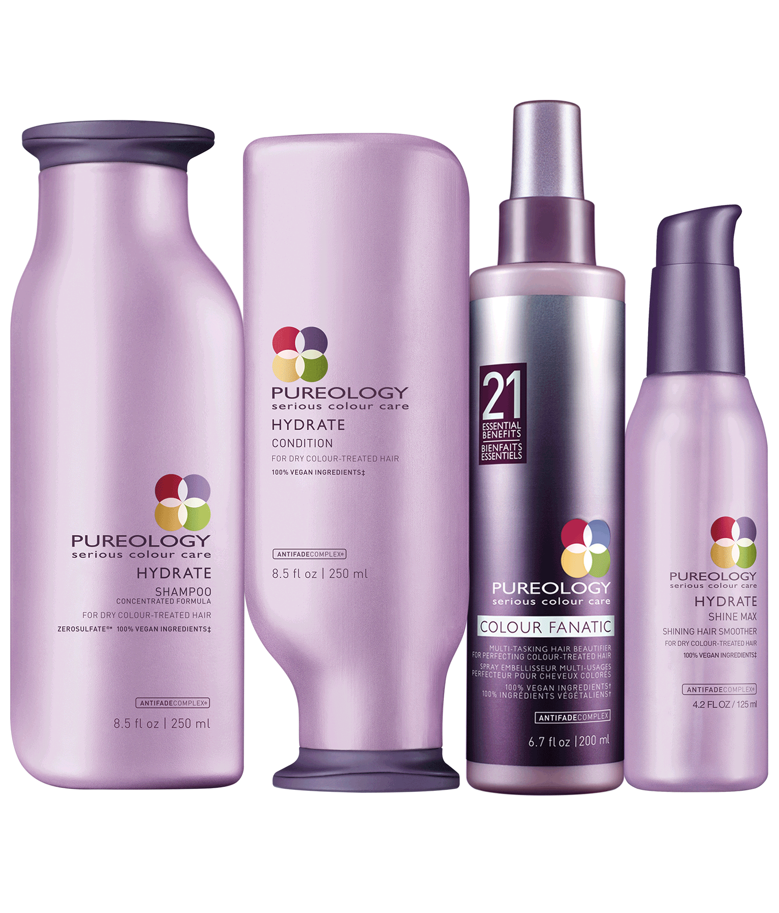 Moisturizing Hair Product Set For Color Treated Hair Pureology