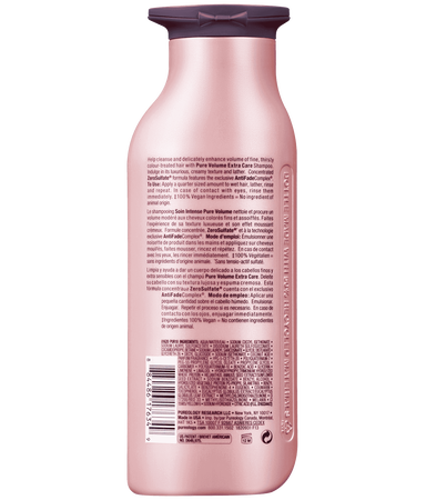 Pure Volume Extra Care Shampoo Ingredients