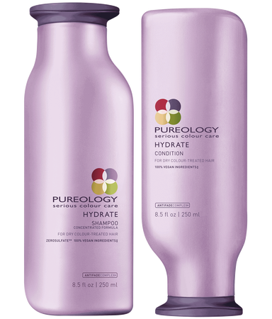 hydrate shampoo conditioner duo for dry colored hair pureology