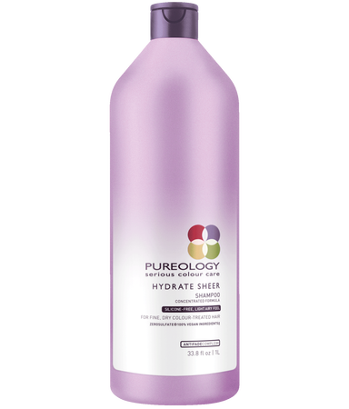 Hydrate Sheer Shampoo Liter for Dry and Fine, Color-treated Hair