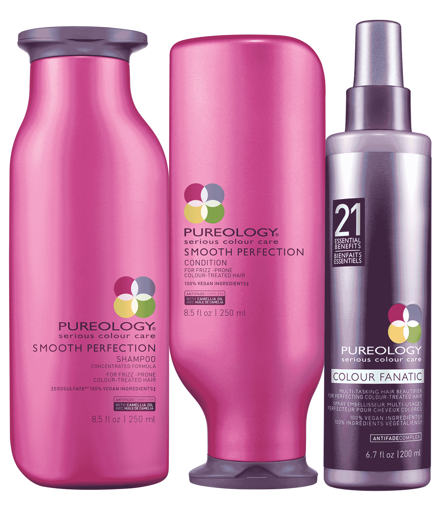 Smoothing Hair Product Set For Frizzy Color Treated Hair Pureology
