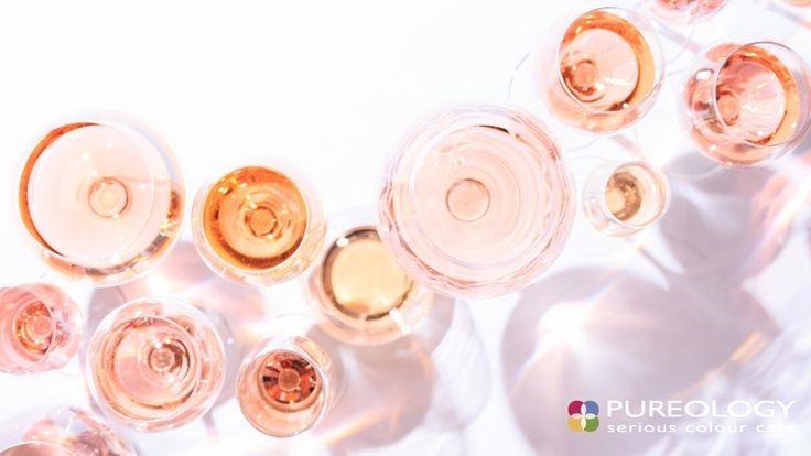 rose wine glasses