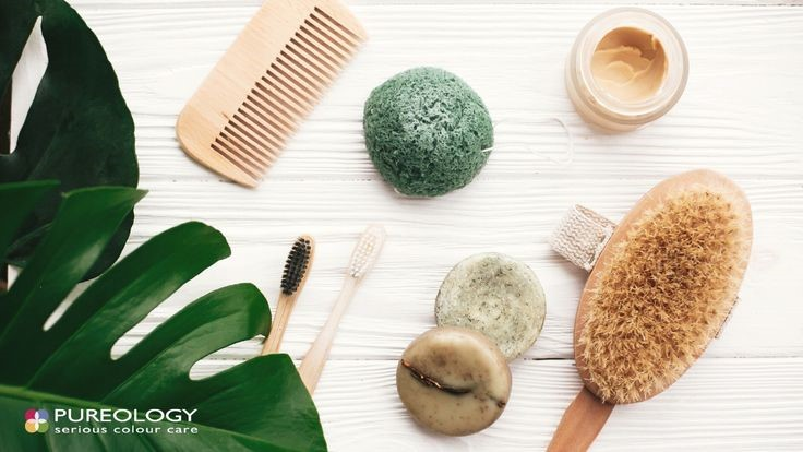haircare accessories background